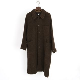 DIAGONAL TWEED COAT
