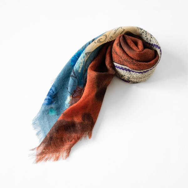 MANTERO ウールスカーフ(70×70) 1 ORANGE