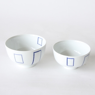 Inban rice bowl set windowsill