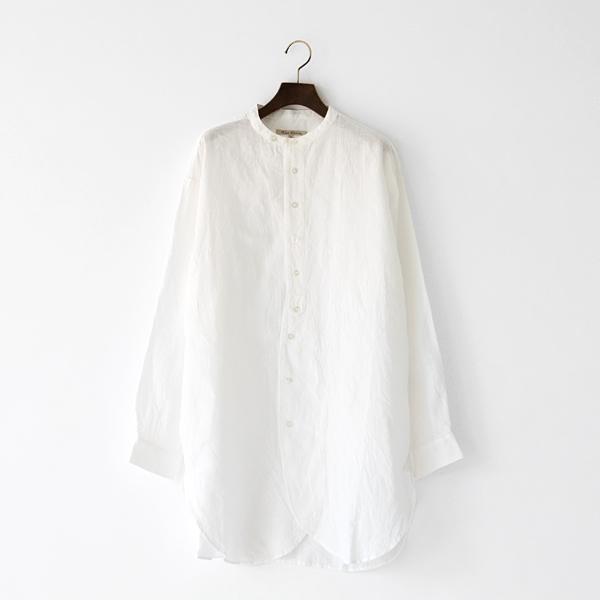 リネン チュニックシャツ(OFF WHITE)