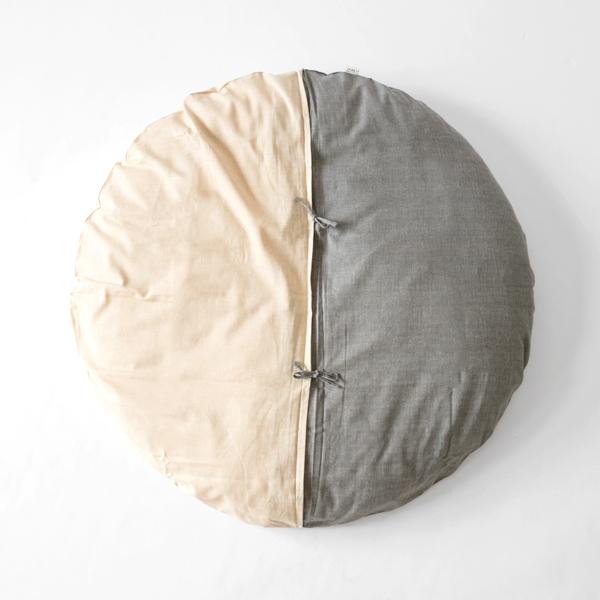 サークル座布団(Natural・Grey)
