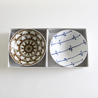 PAIR OF SHALLOW RICE BOWLS Q-58 ST-17