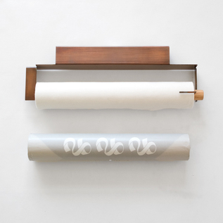 Japanese bleached roll holder with one Japanese bleached roll Cut