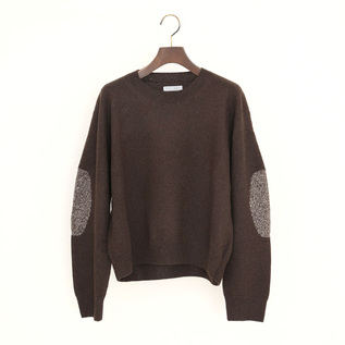 YAK ELBOW PATCH SWEATER