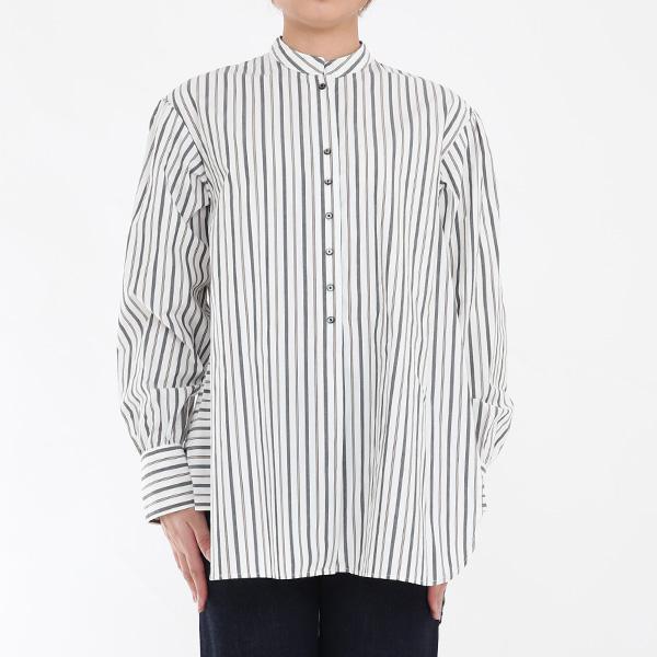 GS530301アンティークライクシャツ WHITE STRIPE