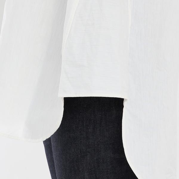 サイドの三角の裾ガゼット(WHITE)