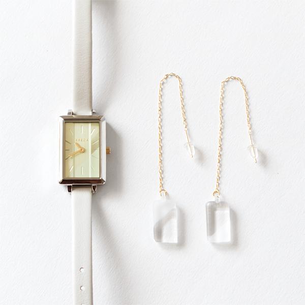 腕時計限定セット BREDA×HARIO Lampwork Factory EVA(ピアス)