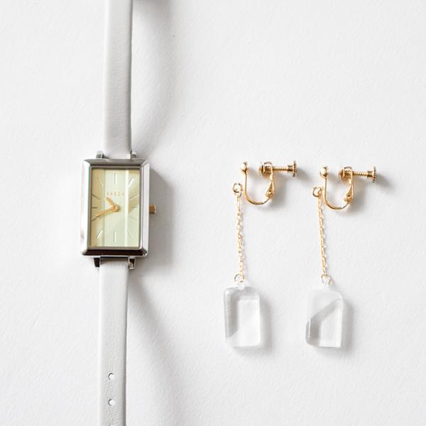 腕時計限定セット BREDA×HARIO Lampwork Factory EVA(イヤリング)