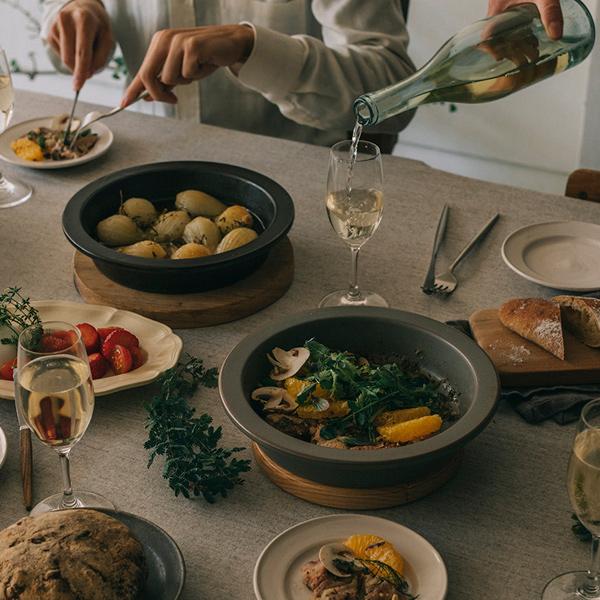 調理後はそのまま食卓へ(泥岩)