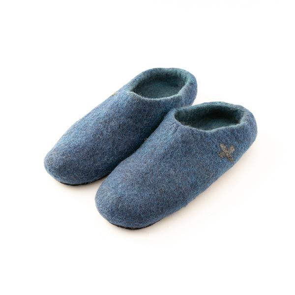 レディースフェルトスリッパ(BLUE)