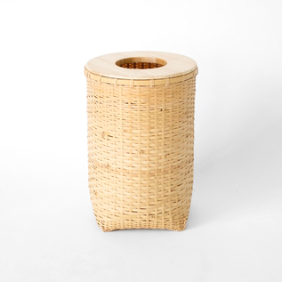 Shiratake bamboo trash basket