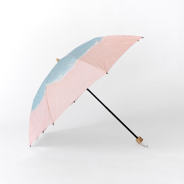 晴雨兼用 折畳み傘 墨流しマーブル(波(配色)50cm 8本骨 )