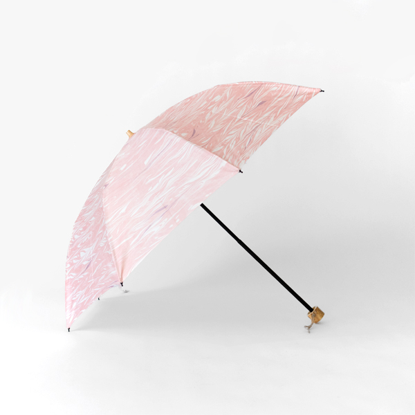 晴雨兼用 折畳み傘 墨流しマーブル(波 50cm 8本骨 )