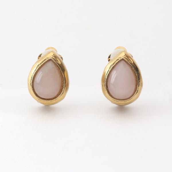 イヤークリップ 天然石(3889N Gold Pink)