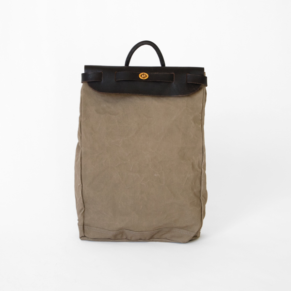 CANVAS×LEATHER VOYAGE 2WAY バックパック(GRAY)