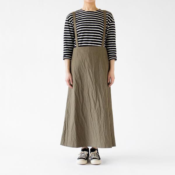 ストラップ付きスカートとして(KHAKI モデル身長 162cm)