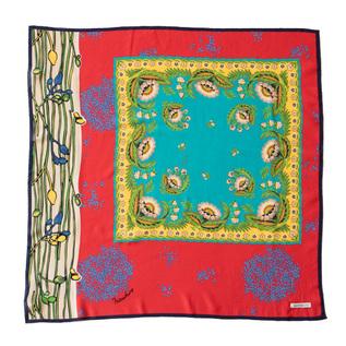 MANTERO シルククレープサテンスカーフ (70×70)