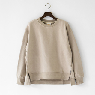 SIDE SLIT CREW SWEATSHIRT