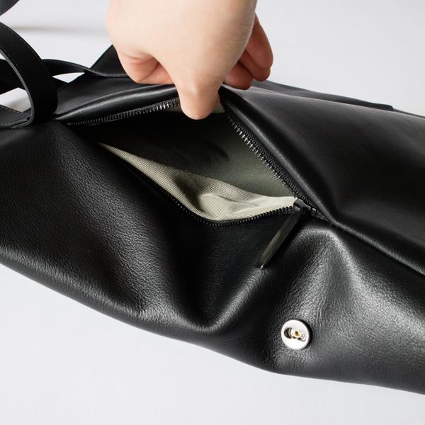 外側からアクセスできる切り替え部分のポケット
