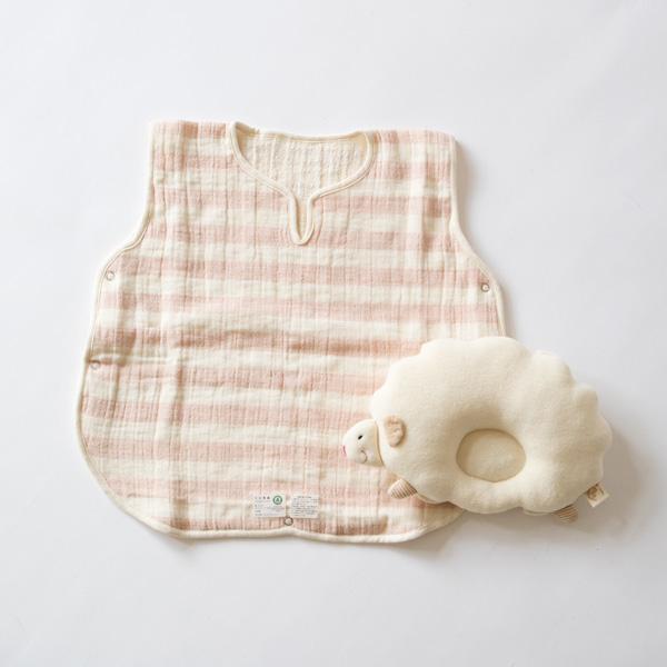 スリーパーとひつじの枕のセット(ピンク)
