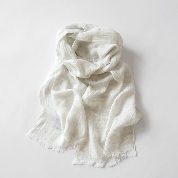 メランジリネンスカーフ(melange white)