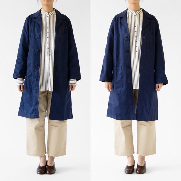 左:サイズ40、右:サイズ42(モデル身長:167cm)NAVYを着用