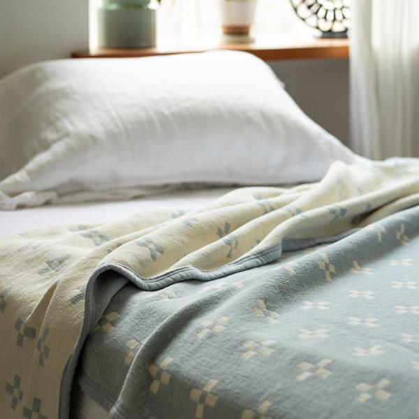 夏場の快適な寝具として(ライトブルー)