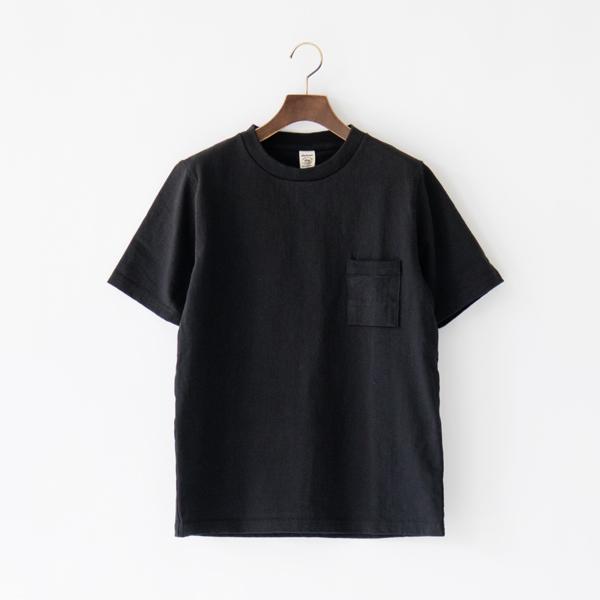 ユニセックス DOTSUME POCKET T-SHIRT BLACK(S)