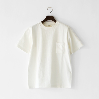 UNISEX DOTSUME POCKET T-SHIRTOFF WHITE