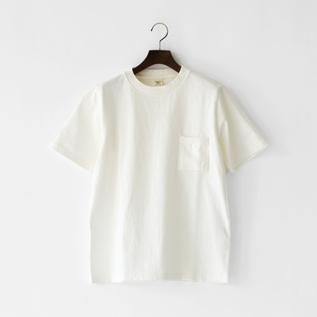 ユニセックス DOTSUME POCKET T-SHIRT OFF WHITE