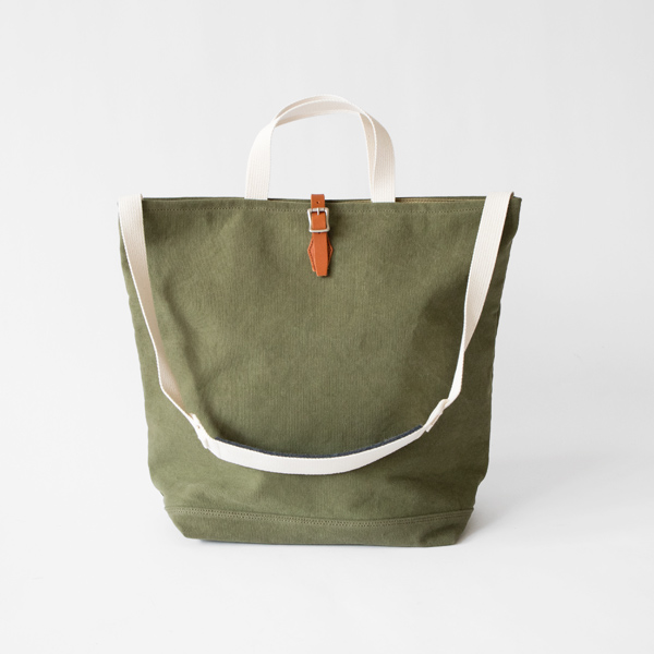 21oz CANVAS / 2WAY GROCERY TOTE トートバッグ(OLIVE)
