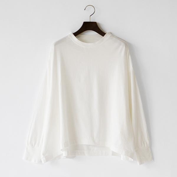 スーピマ天竺ドルマンスリーブ長袖Tシャツ(OFF WHITE)