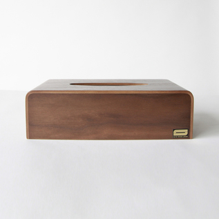 Tissue Box Cover Walnut