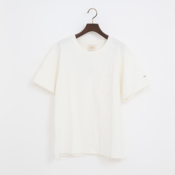 PIGMENT DYED ポケット付ショートスリーブTシャツ(WHITE)