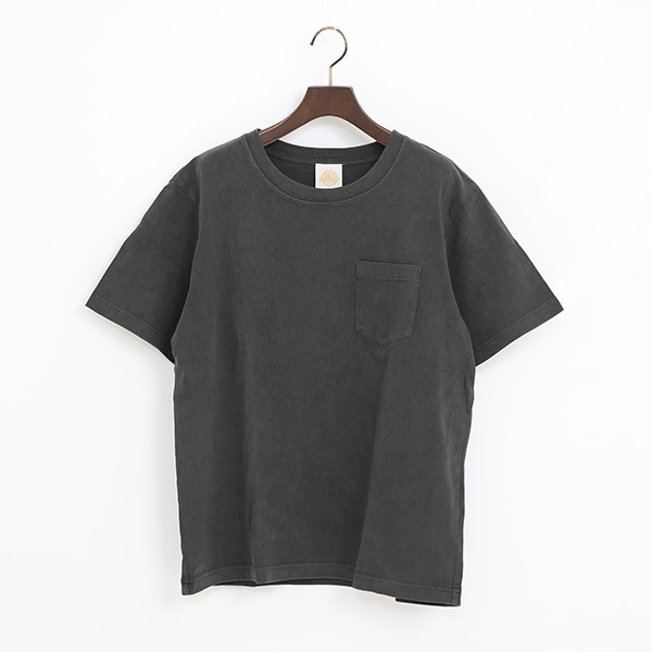 PIGMENT DYED ポケット付ショートスリーブTシャツ(BLACK)