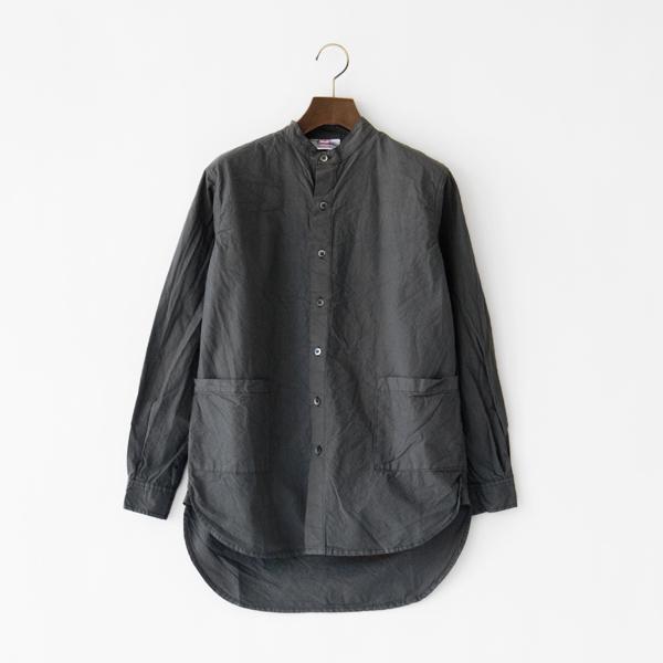 バンドカラーシャツ Charcoal