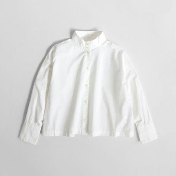 STAND COLLAR SHIRT(WHITE)