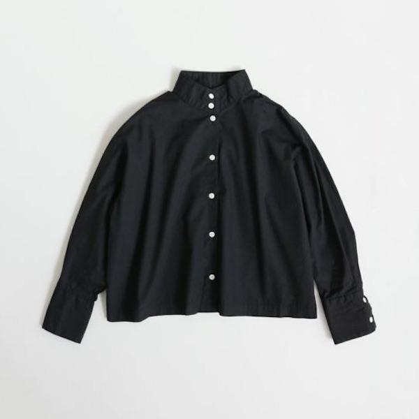 STAND COLLAR SHIRT(BLACK)