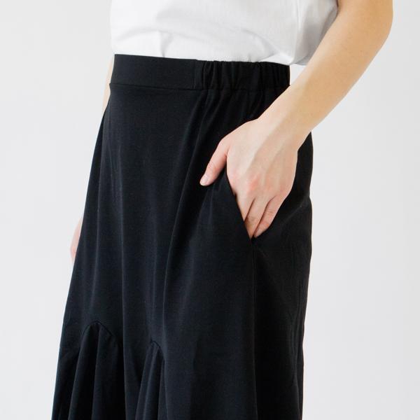 縫い目の目立たないシームポケット付き(BLACK)