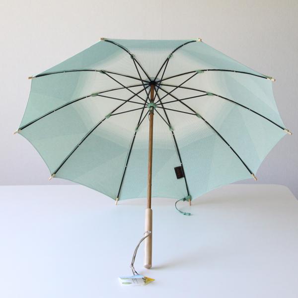 日差しの強い日でも、この日傘があれば涼しげな印象に