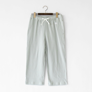 男女兼用 七分袖パジャマパンツ ミントグレー