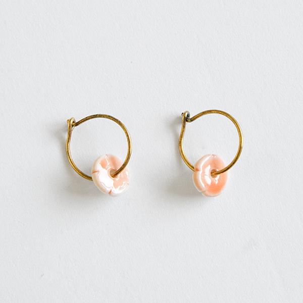 ピアス elements hoop(オレンジ)