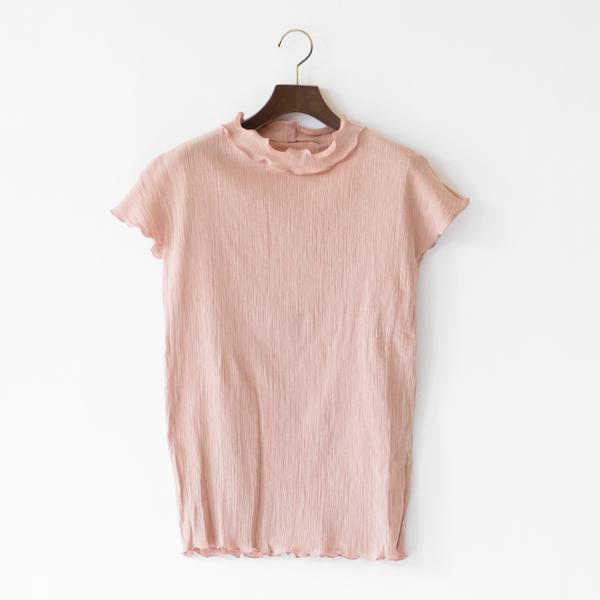 コットンクレープシャツ(PINK BEIGE)