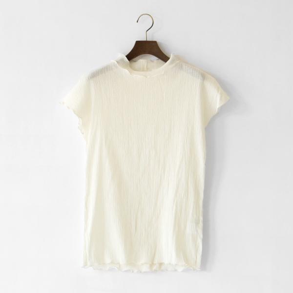 コットンクレープシャツ(OFF WHITE)