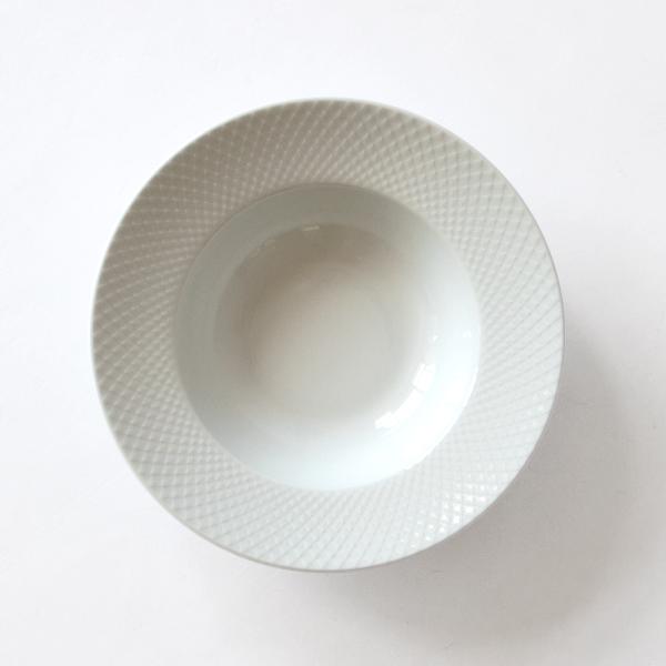 プレート RHOMBE WHITE(スープ)