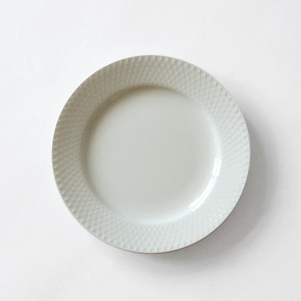 プレート RHOMBE WHITE(21cm)