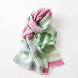 Linen hand-woven stall GREEN