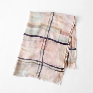 Cotton linen stole PINK