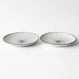 白化粧十草 7寸皿セット