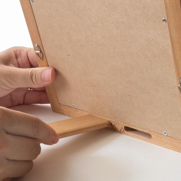 差し込み位置を変えるだけで角度を4段階に調整できます